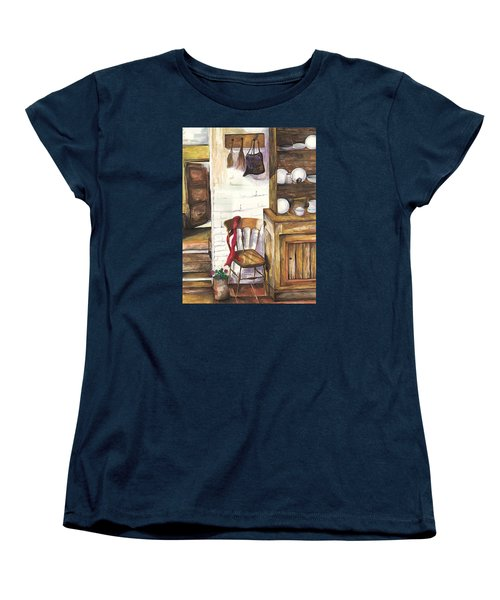 Women's T-Shirt (Standard Cut) featuring the painting Farm House by Darren Cannell