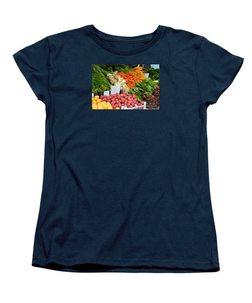 Women's T-Shirt (Standard Cut) featuring the photograph Farmer's Market by Jeanette French