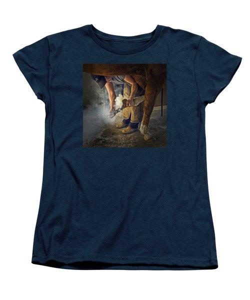 Farrier Visit - 365-46 Women's T-Shirt (Standard Cut) by Inge Riis McDonald