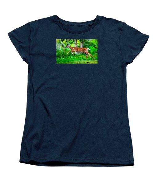 Women's T-Shirt (Standard Cut) featuring the photograph Fast Fawn 2 by Brian Stevens