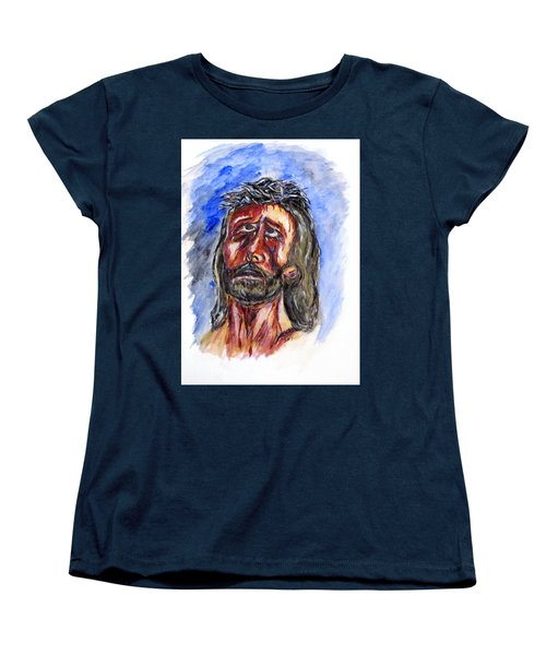 Father Forgive Them Women's T-Shirt (Standard Cut) by Clyde J Kell