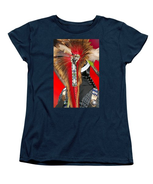 Favored Feathers Women's T-Shirt (Standard Cut) by Audrey Robillard
