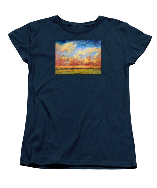 Feathered Sky Women's T-Shirt (Standard Cut) by Mary Schiros