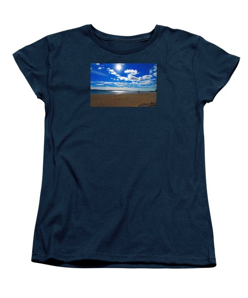 Women's T-Shirt (Standard Cut) featuring the photograph February Blue by Valentino Visentini