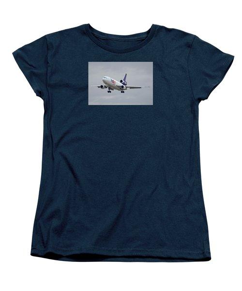 Fedex Express Mcdonnell Douglas Md-10-10f N359fe Phoenix Sky Harbor December 23 2015 Women's T-Shirt (Standard Cut) by Brian Lockett