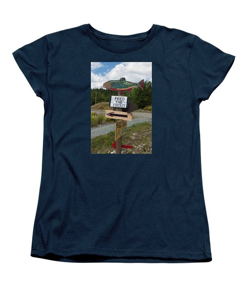 Feed The Trout Women's T-Shirt (Standard Cut) by Suzanne Gaff