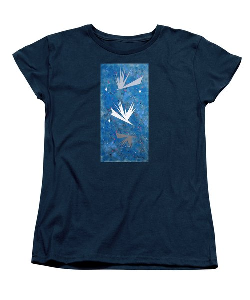 Women's T-Shirt (Standard Cut) featuring the painting Feeding Frenzy by J R Seymour