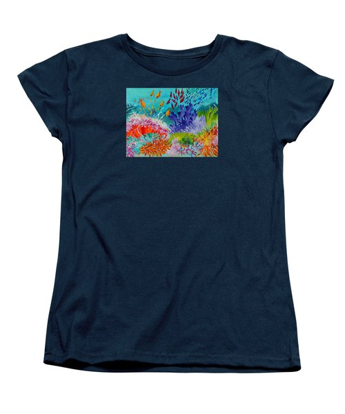 Women's T-Shirt (Standard Cut) featuring the painting Feeding Time On The Reef #2 by Lyn Olsen
