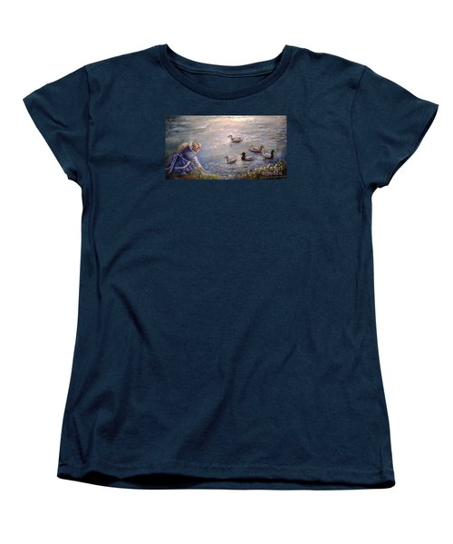 Feeding Time Women's T-Shirt (Standard Cut) by Patricia Schneider Mitchell