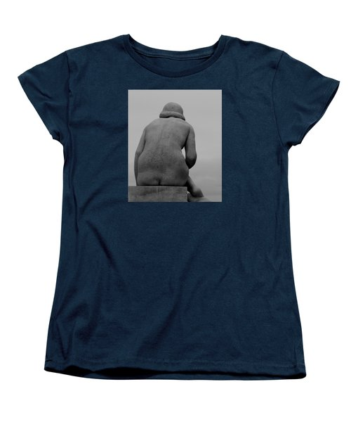 Female Nude Women's T-Shirt (Standard Cut) by Emme Pons
