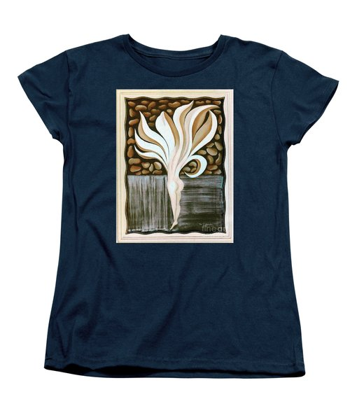 Women's T-Shirt (Standard Cut) featuring the painting Female Petal by Fei A