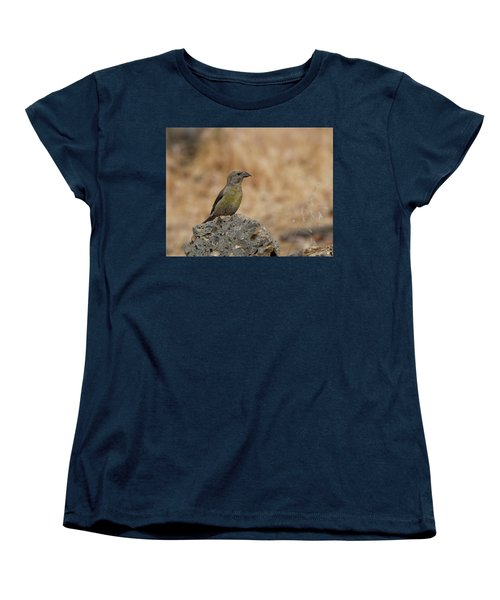 Female Red Crossbill Women's T-Shirt (Standard Cut) by Doug Lloyd