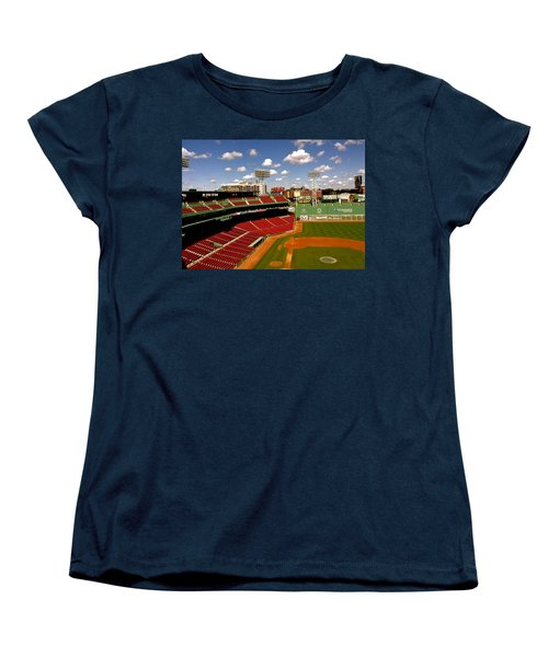 Women's T-Shirt (Standard Cut) featuring the photograph Fenway Park Iv  Fenway Park  by Iconic Images Art Gallery David Pucciarelli