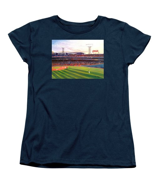 Fenway Park Women's T-Shirt (Standard Cut) by Rose Wang