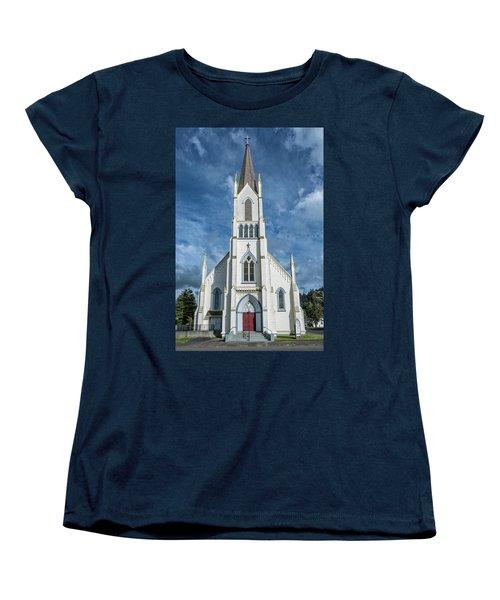 Women's T-Shirt (Standard Cut) featuring the photograph Ferndale Catholic Church by Greg Nyquist