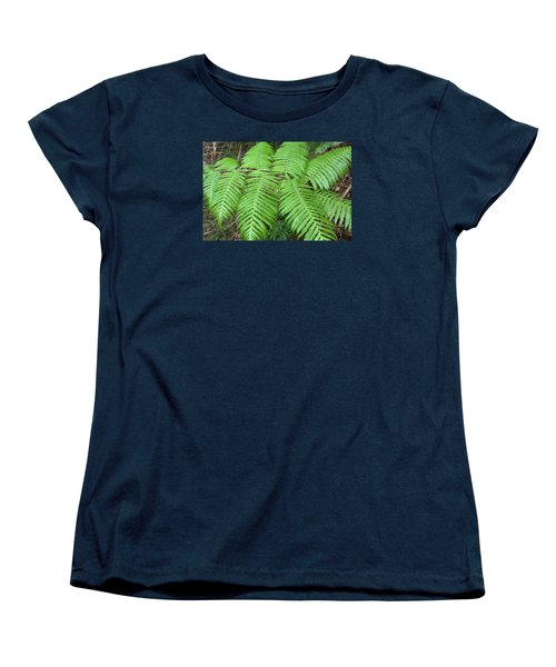 Ferns Women's T-Shirt (Standard Cut) by Karen Nicholson