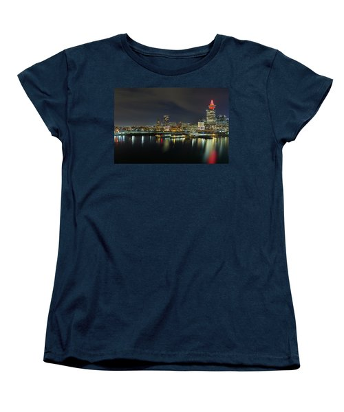 Ferry Terminal In Vancouver Bc At Night Women's T-Shirt (Standard Fit)