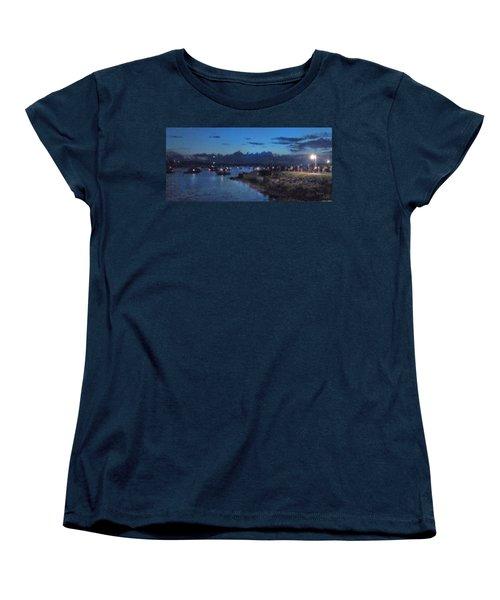 Festival Night Land And Shore Women's T-Shirt (Standard Cut) by Felipe Adan Lerma