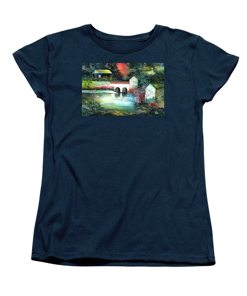 Women's T-Shirt (Standard Cut) featuring the painting Festival Of Lights by Anil Nene