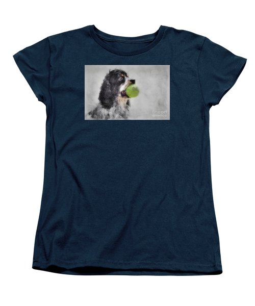 Women's T-Shirt (Standard Cut) featuring the photograph Fetching Cocker Spaniel  by Benanne Stiens