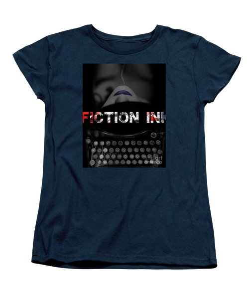 Women's T-Shirt (Standard Cut) featuring the digital art Fiction Ink by Nola Lee Kelsey
