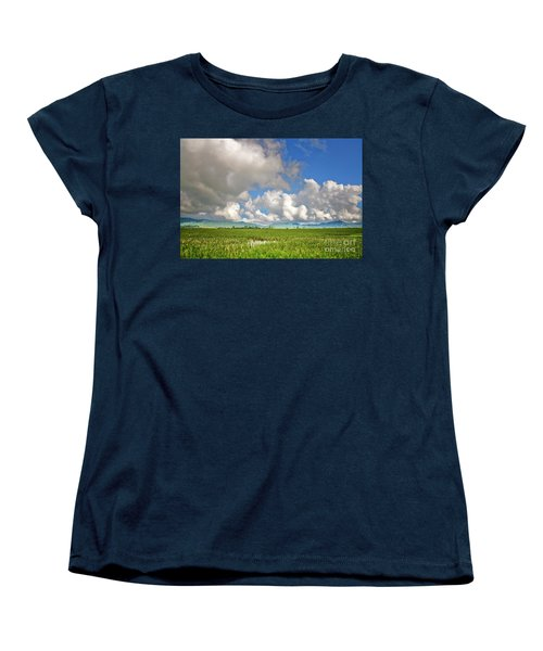 Women's T-Shirt (Standard Cut) featuring the photograph Field by Charuhas Images