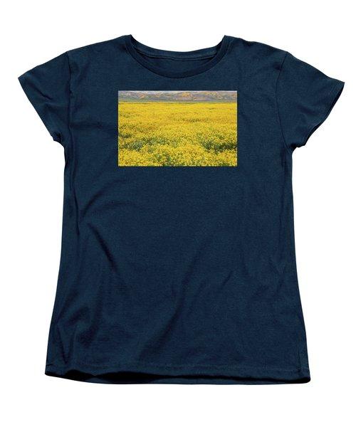 Women's T-Shirt (Standard Cut) featuring the photograph Field Of Goldfields by Marc Crumpler