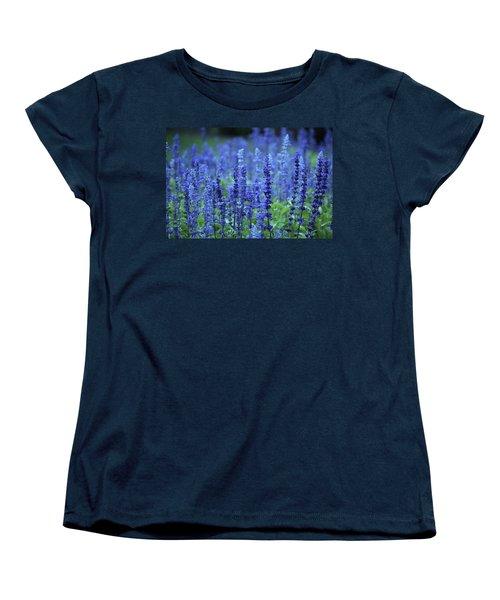 Women's T-Shirt (Standard Cut) featuring the photograph Fields Of Blue by Rowana Ray