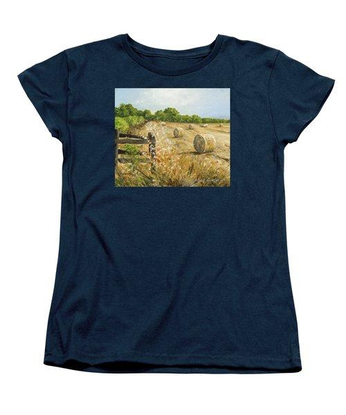 Fields Of Hay Women's T-Shirt (Standard Cut) by Marty Garland