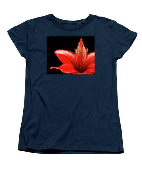 Women's T-Shirt (Standard Cut) featuring the photograph Fiery Red by Judy Vincent