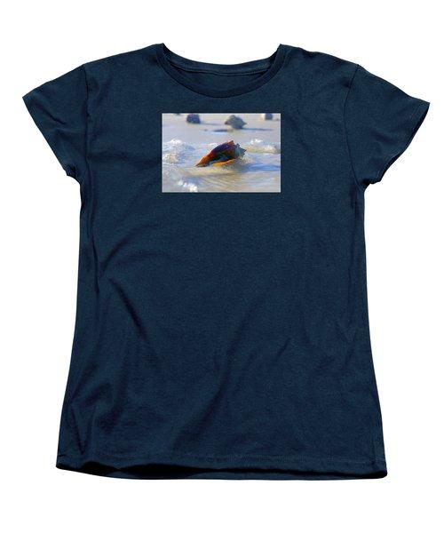 Fighting Conch On Beach Women's T-Shirt (Standard Cut) by Robb Stan