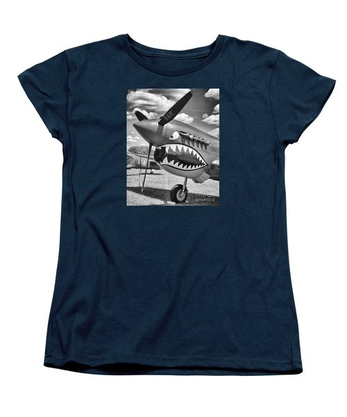 Women's T-Shirt (Standard Cut) featuring the photograph Fighting Tiger by Ricky L Jones