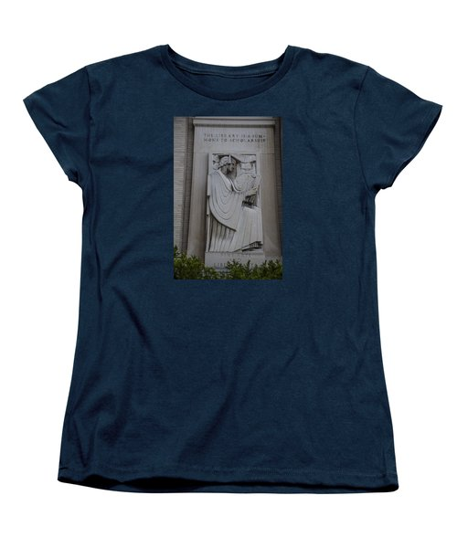 Fine Art Library Penn State  Women's T-Shirt (Standard Cut) by John McGraw