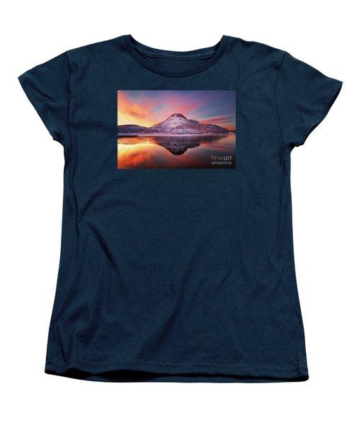 Fire And Ice - Flatiron Reservoir, Loveland Colorado Women's T-Shirt (Standard Cut) by Ronda Kimbrow