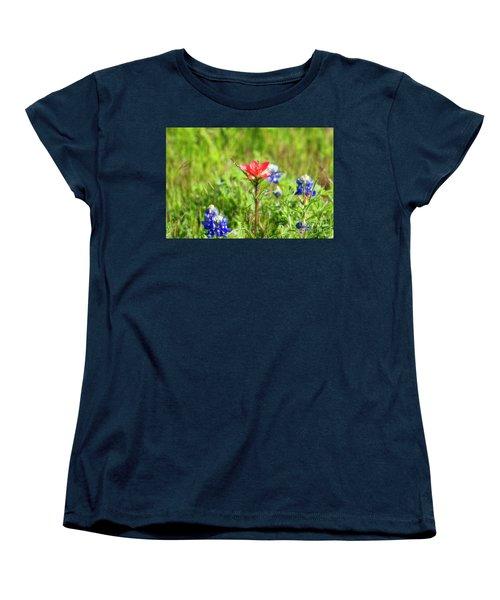 Fire Cracker Women's T-Shirt (Standard Cut) by Joan Bertucci