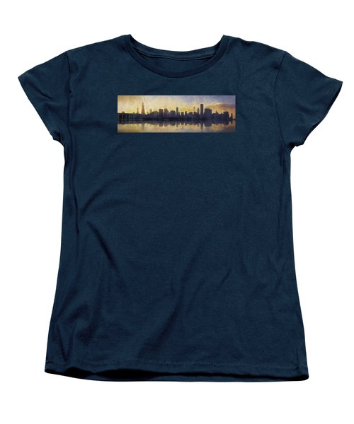 Fire In The Sky Chicago At Sunset Women's T-Shirt (Standard Cut) by Scott Norris