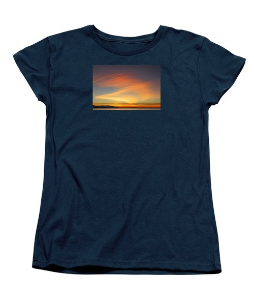 Fire In The Sky Women's T-Shirt (Standard Cut) by Elvira Butler