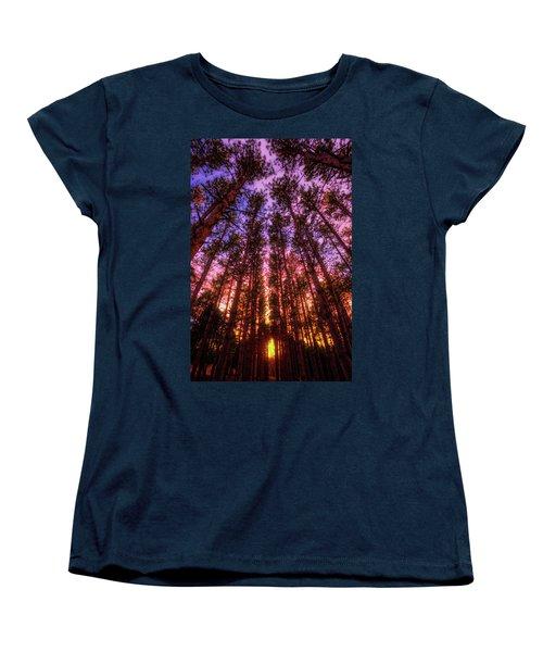Fire Sky - Sunset At Retzer Nature Center - Waukesha Wisconsin Women's T-Shirt (Standard Cut) by Jennifer Rondinelli Reilly - Fine Art Photography