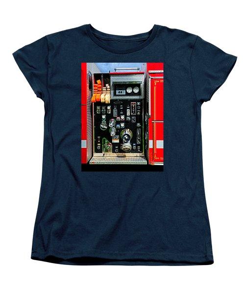 Fire Truck Control Panel Women's T-Shirt (Standard Cut) by Dave Mills