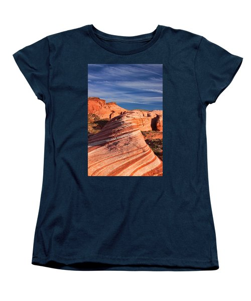 Fire Wave Women's T-Shirt (Standard Cut) by Tammy Espino