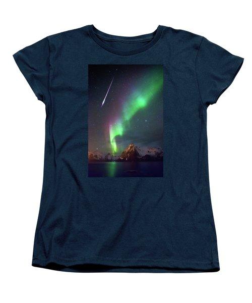 Fireball In The Aurora Women's T-Shirt (Standard Cut)