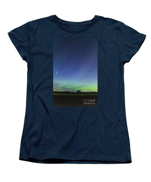 Fireball Two Over The Farm Women's T-Shirt (Standard Cut) by Patrick Fennell