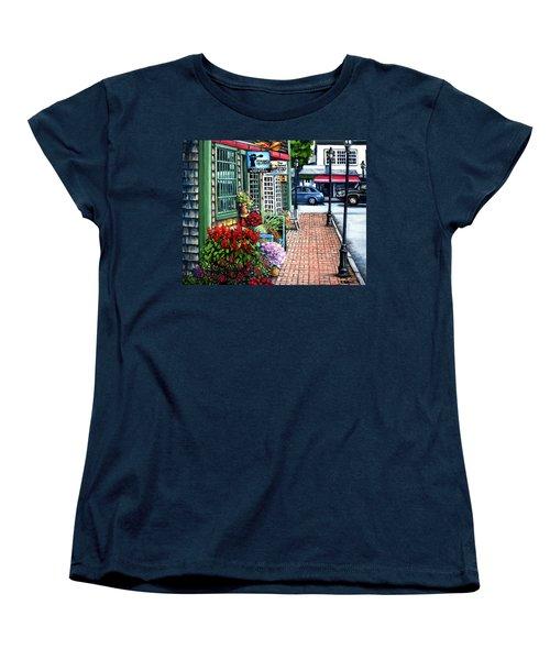 Firefly Lane Bar Harbor Maine Women's T-Shirt (Standard Cut) by Eileen Patten Oliver