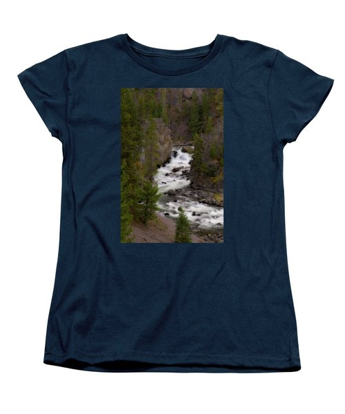 Women's T-Shirt (Standard Cut) featuring the photograph Firehole Canyon by Steve Stuller