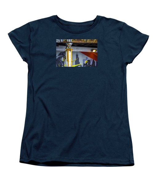 Fireman At Addison And Lincoln V4 Women's T-Shirt (Standard Cut) by Raymond Kunst
