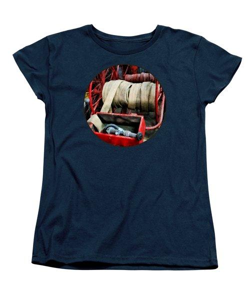 Fireman - Fire Hoses Women's T-Shirt (Standard Cut) by Susan Savad