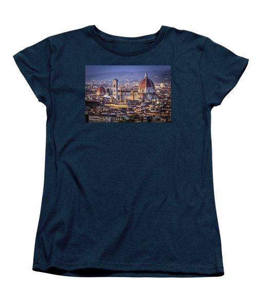 Women's T-Shirt (Standard Cut) featuring the photograph Firenze E Il Duomo by Sonny Marcyan
