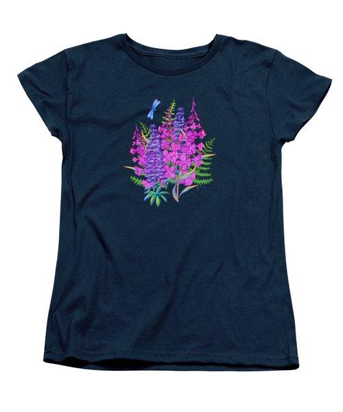 Fireweed And Lupine T Shirt Design Women's T-Shirt (Standard Cut) by Teresa Ascone