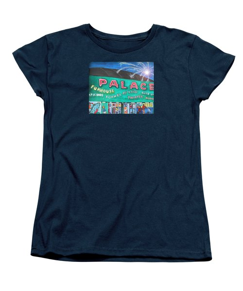 Women's T-Shirt (Standard Cut) featuring the painting Fireworks At The Palace by Patricia Arroyo