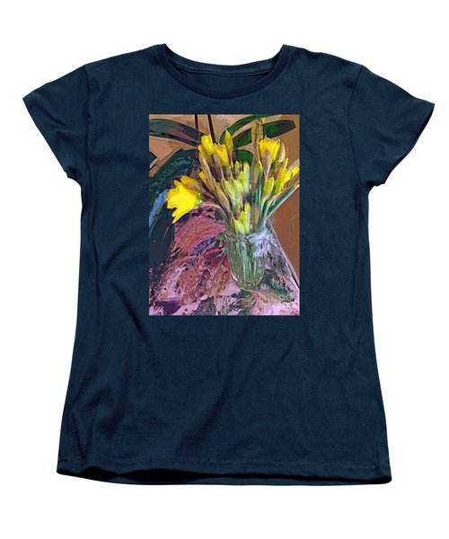 First Daffodils Women's T-Shirt (Standard Cut) by Alexis Rotella